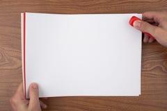 Paper binding Stock Image