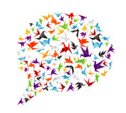 Paper bird call-out Royalty Free Stock Photos