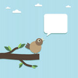 Paper bird speech Royalty Free Stock Images