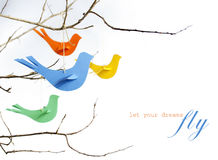 Paper birds Stock Photography