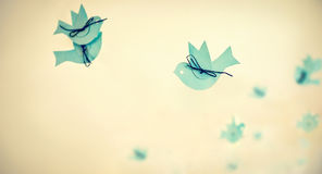 Paper birds Stock Photo