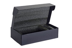 Paper black box. Royalty Free Stock Photo