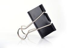 Paper black clip. With  background Royalty Free Stock Images