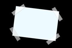 Paper on black wall Stock Photography