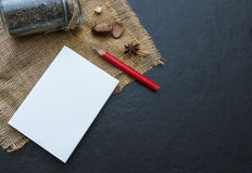The paper on the blank. Stock Photography