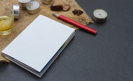 The paper on the blank. Royalty Free Stock Photo