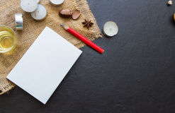 The paper on the blank. Royalty Free Stock Image