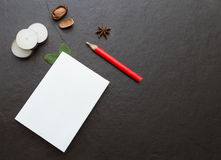 The paper on the blank. Stock Photo