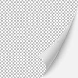 Blank page. Paper blank page curled corner with shadow. Vector template illustration for your design Royalty Free Stock Image