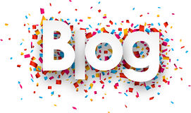 Paper blog confetti sign Stock Images