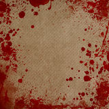 paper with blood splatters frame Stock Photography
