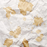 Paper with blots of tea Royalty Free Stock Photo