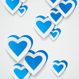 Paper blue hearts background Royalty Free Stock Photography