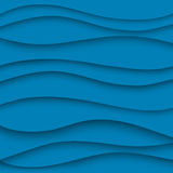 Paper, blue, wave lines. Royalty Free Stock Photography