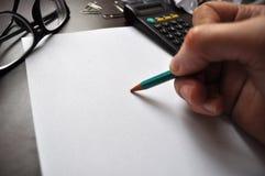 paper blyertspenna Royaltyfri Foto