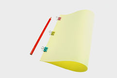 paper blyertspenna för färg Arkivfoto