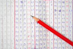 paper blyertspennared Royaltyfria Foton