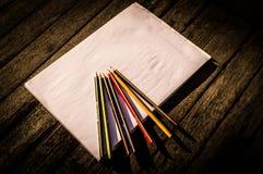 paper blyertspennor Arkivbild