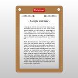 Paper board Stock Image
