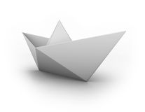 Paper boat. Origami boat made of white paper Royalty Free Stock Photos