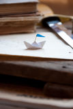 Paper boat. Stock Photo