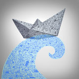 Paper Boat Business Concept Stock Images