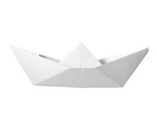 Paper boat childhood float toy Royalty Free Stock Photo