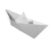 Paper boat childhood float toy Royalty Free Stock Photography
