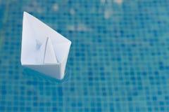 Paper boat Stock Image