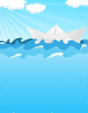 Paper boat Stock Images
