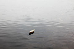 Paper boat on lake Royalty Free Stock Images
