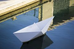 Paper boat monument Malta Stock Photography