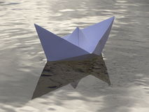 Paper boat. In the photo is paper boat on the river Isar near Vorderriss Bavaria, Germany Royalty Free Stock Photos