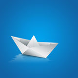 Paper boat sailing on water Stock Photography