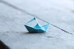 Paper boat, Travel to World idea Royalty Free Stock Photography