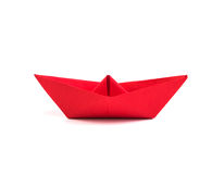 Paper Boat on white background Stock Photography