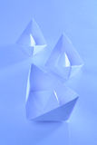 Paper boats Stock Image