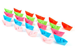 Paper boats Royalty Free Stock Photo