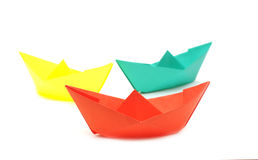 Paper boats Royalty Free Stock Images