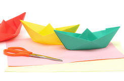 Paper boats Royalty Free Stock Photography