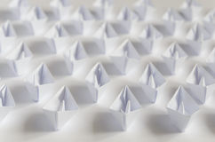 Paper boats Stock Photography