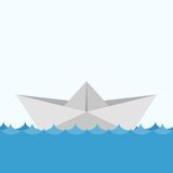 Paper boats ship origami toy vessel water transport. Stock Photography