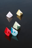 Paper Boats On Water Stock Photo