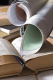 Paper and book convolutions. Royalty Free Stock Photos