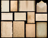Paper, book, envelope, cardboard, photo corner, frame Royalty Free Stock Image
