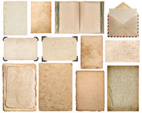 Paper, book, envelope, cardboard, photo frame corner Stock Images