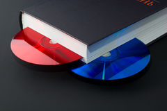 Paper book going digital Royalty Free Stock Images
