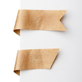 Paper bookmark ribbons Royalty Free Stock Photo