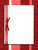 Paper And Bow On Red Fabric Stock Image