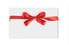Paper with a bow Royalty Free Stock Photos